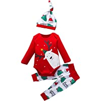 Wascoo Baby Christmas Outfits My First Christmas