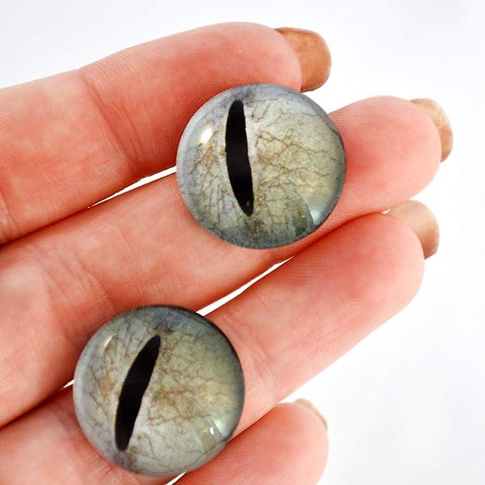 30mm Javan Tree Frog Glass Taxidermy Eyes Animal Realistic Jewelry Art Supplies