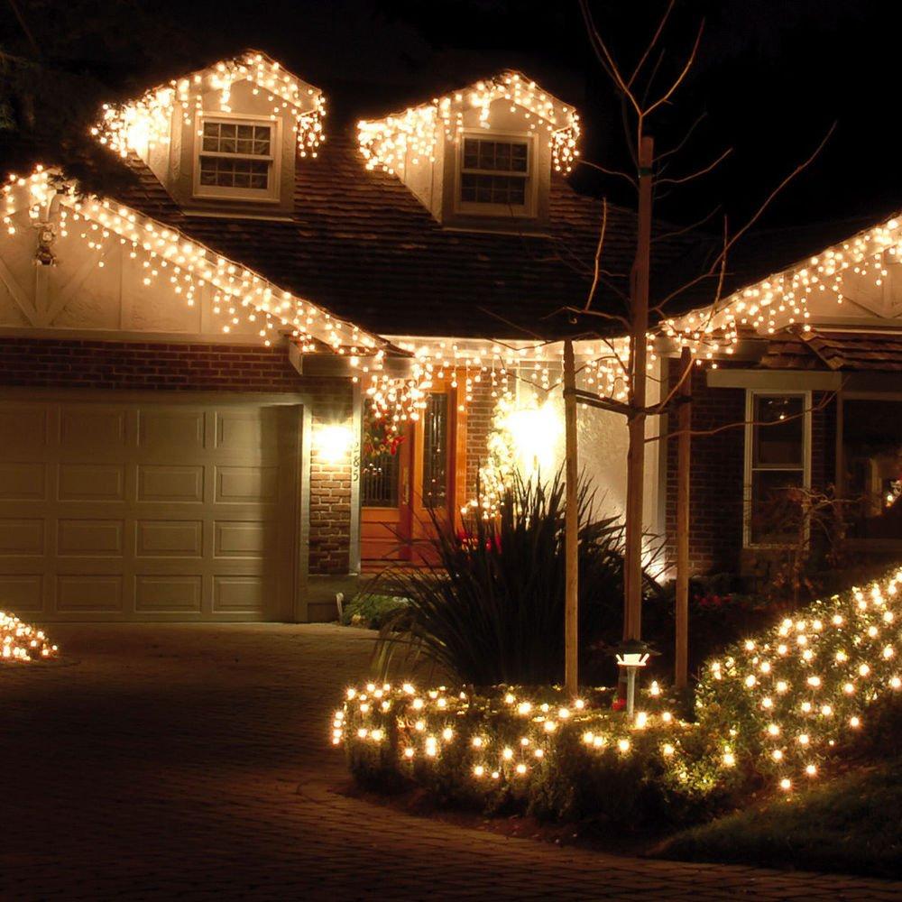 Amazon.com : Fairy string Curtain lights 33ftx3ft 480 Leds Wall ...