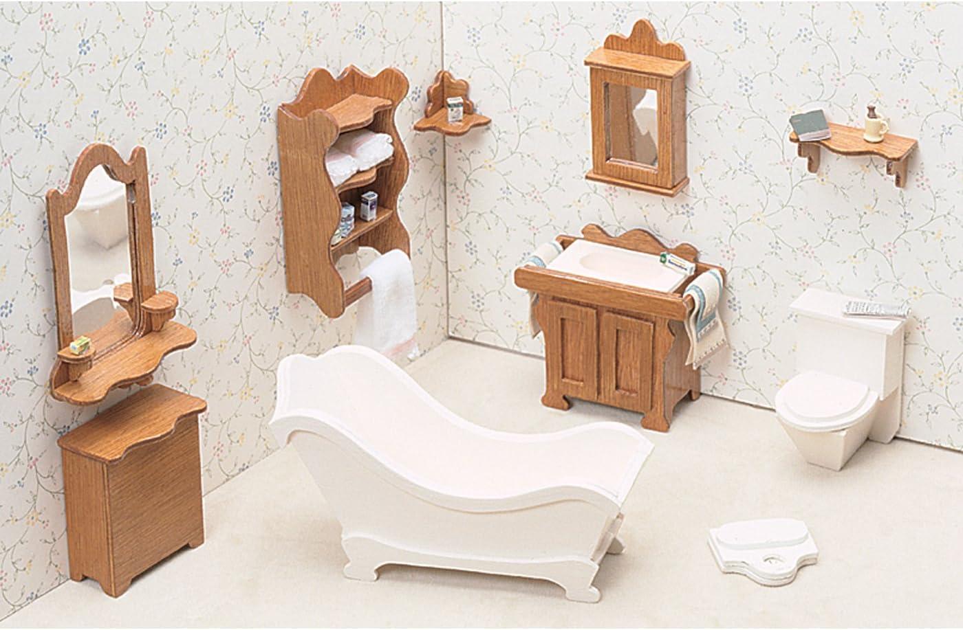 Greenleaf Dollhouse Furniture Kit for Bathroom