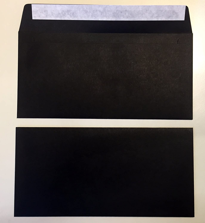 100 buste per lettera, nero, 220 x 110 mm, chiusura autoadesiva, Caribic d'IGEPA Caribic d' IGEPA umschlag-discount U354-97DLH
