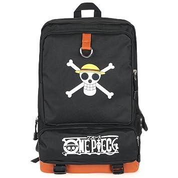 CoolChange Mochila de One Piece con Jolly Roger de la tripulación de Piratas  Sombrero de Paja f6af92b343a