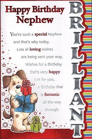Admirable Nephew Birthday Card Happy Birthday Nephew Amazon Co Uk Office Personalised Birthday Cards Veneteletsinfo