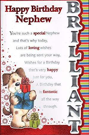Nephew birthday card happy birthday nephew amazon office nephew birthday card happy birthday nephew bookmarktalkfo Gallery