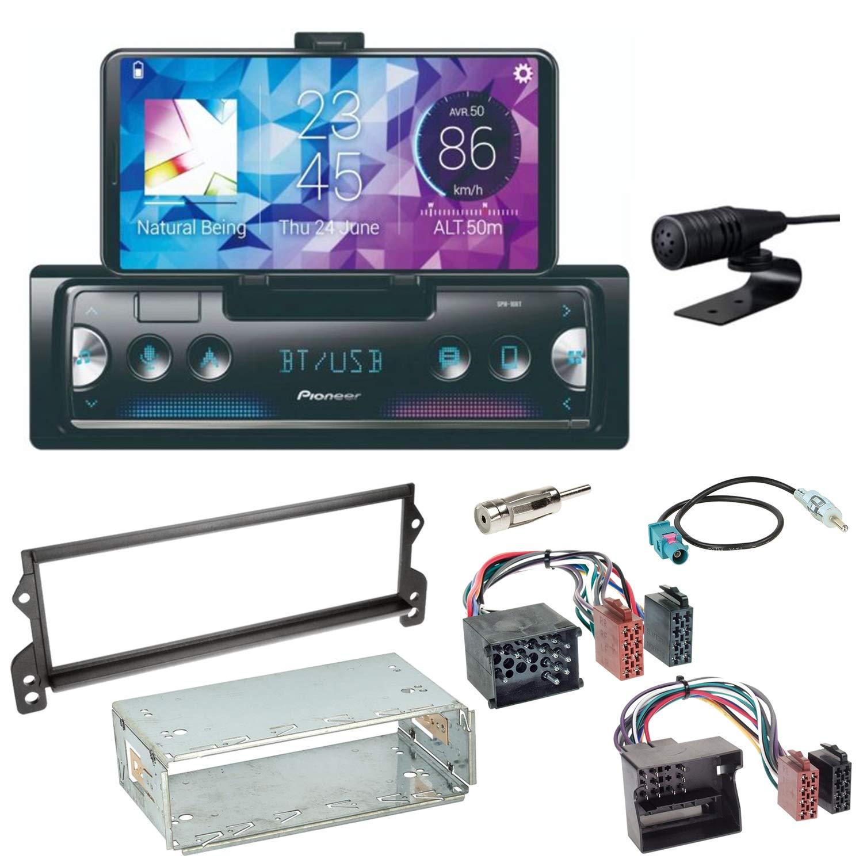 Pioneer SPH-10BT Bluetooth Autoradio USB AUX MP3 FLAC AAC WAV Einbauset f/ür Mini R50 R52 R53