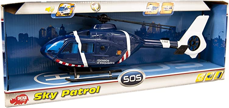 Helicóptero Mossos de 36cm con luz y sonido (Dickie 356386201 ...