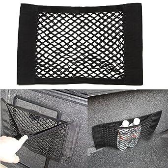Car Trunk Bag Mesh Storage Wallet Pocket Cage Back Rear Seat Elastic String Net