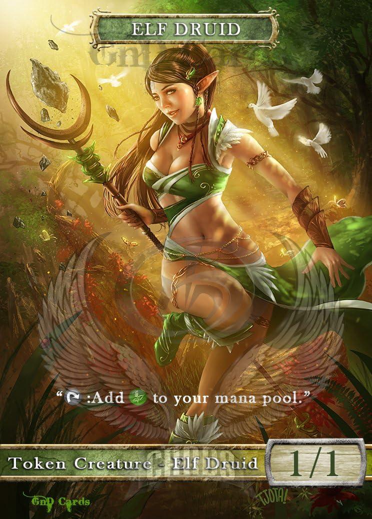 3x Elf Warrior #7 Custom Altered Tokens MTG Magic Origins