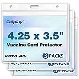 3PCS CDC Vaccine Card Protector 4.25x3.5 Waterproof,PVC Clear Vaccination Card Protector,Business Vaccine Card Holder Immuniz