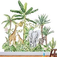 Groot formaat bosdieren boom muurstickers, kinderkamer dieren muurstickers, jungle muurstickers, kinderfoto muurstickers…