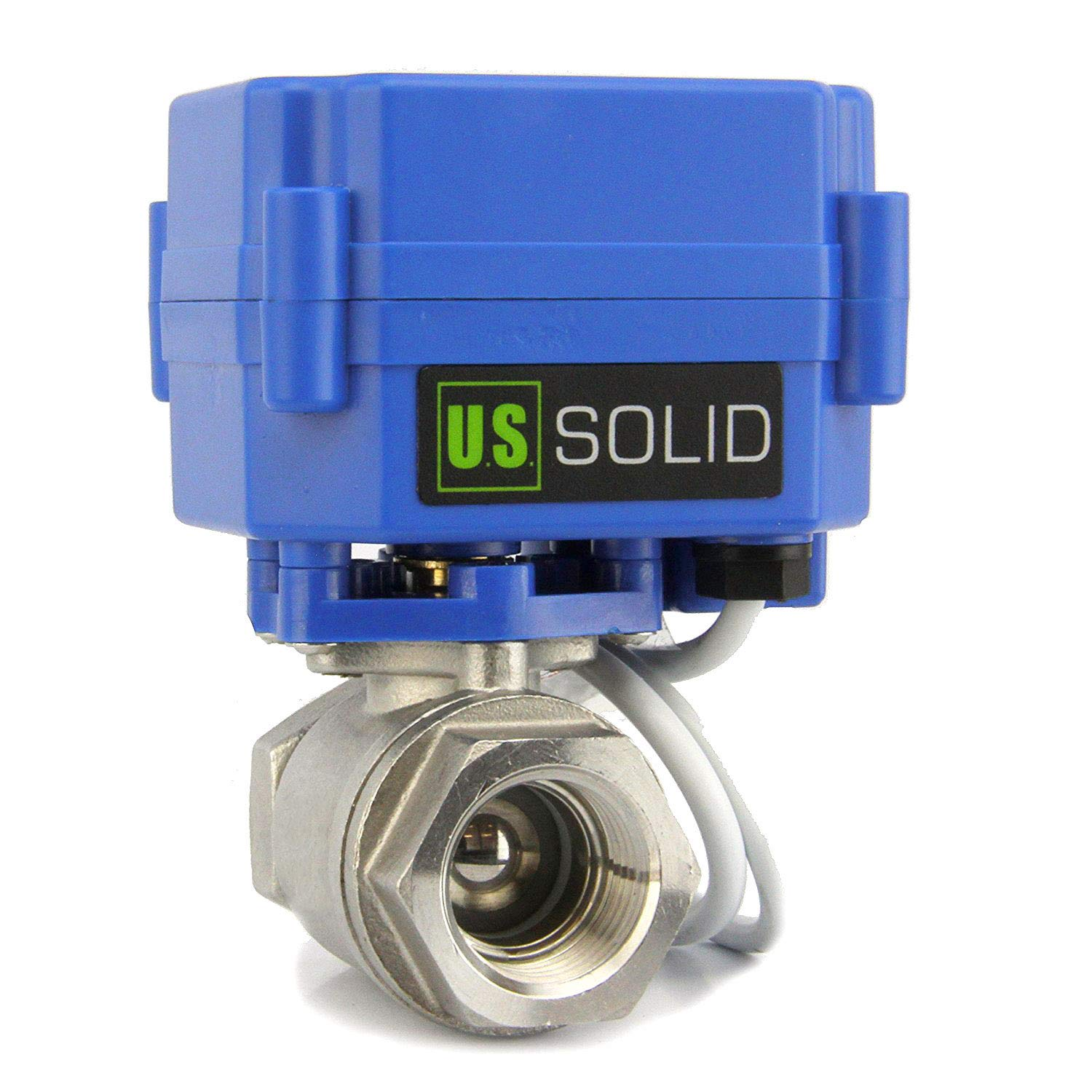 Motorized Ball Valve- 3/4'' Stainless Steel Ball Valve with Full Port, 9-24V DC and 2 Wire Reverse Polarity by U.S. Solid