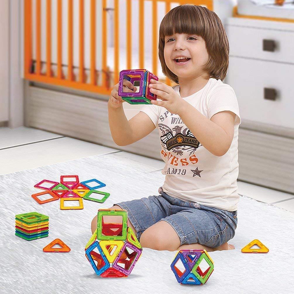 Morcare 76pcs Magnetic Blocks Magnetic Building Blocks Toys for Boys Girls, Magnet Tiles Molding Kits for Kids by Morcare (Image #3)
