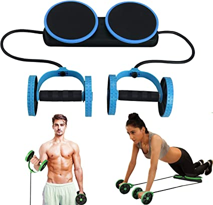 Amazon Com Macunin Multi Function Double Ab Roller Wheel Exercise Equipment For Home Gym Abdomen And Arm Workout Equipment Waist Slimming Trainer For Man And Women Blue Sports Outdoors
