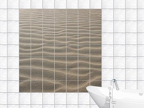 Piastrelle adesivo piastrelle adesivo per bagno di sabbia a forma