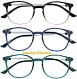 Reading Glasses 3 Pair Stylish Color Readers