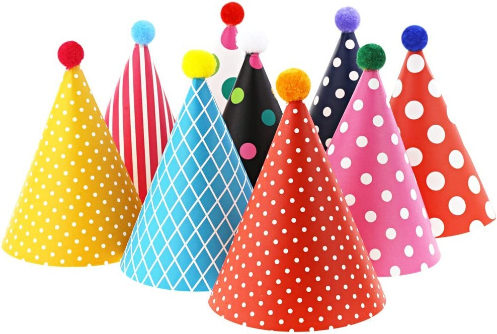 Vesil Kids Birthday Party Hats, Assorted: Kitchen & Dining