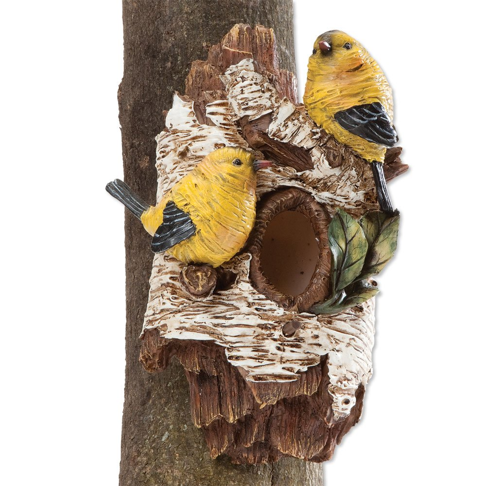 Bits and Pieces - Tree Hanging Birdhouse and Sculpture - Tree Hugger Bird House Made of Durable Weather Resistant Polyresin Melville Direct