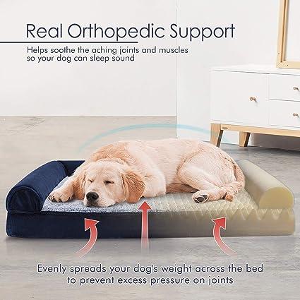 Amazon.com: Cama ortopédica para perro de 36 x 27 pulgadas ...