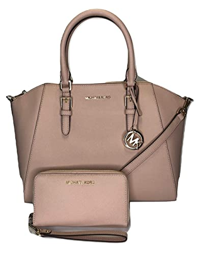 dac0a12b5d1f MICHAEL Michael Kors Ciara Large TZ Satchel bundled with Michael Kors Jet  Set Travel Large Phone