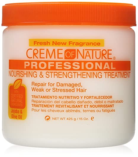 Amazon.com : Creme of Nature Nourishing and Strengthening Treatment with Jojoba and Olive Oil, 15 Ounce : Beauty