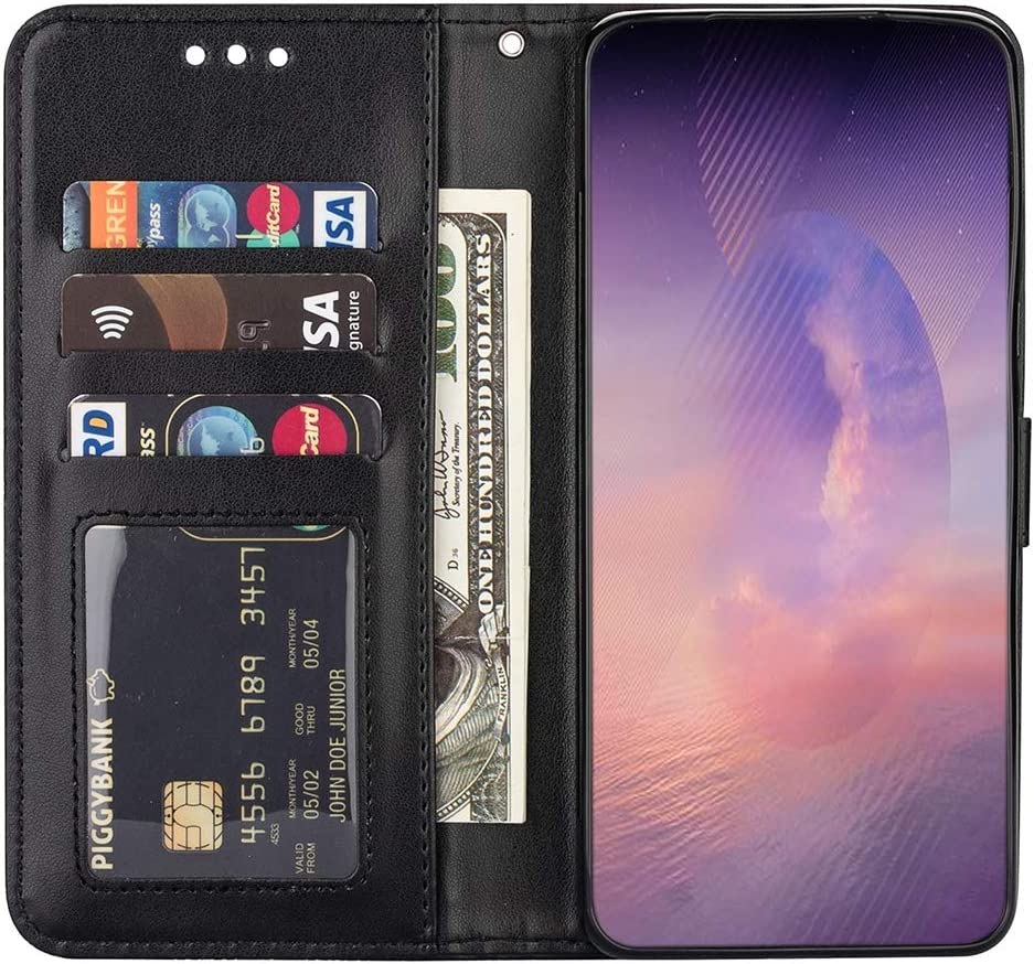 Wrist Strap Totem Flip Back Phone Case for Women Men Galaxy Note 20 Pro Case Samsung Galaxy Note 20 Pro Leather Wallet Bumper Cover with Card Slots, Black Camara Protection Not for Note 20