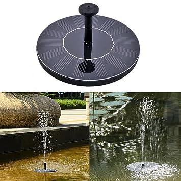 GOGOOUT Solar Fountain, Solar Powered Bird Bath Fountains Pump Freestanding  Submersible With 1.4W Solar
