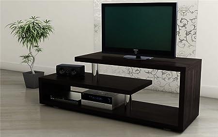 TV Estantería 140 cm LCD Armario Rack HiFi mueble para televisión para muebles armario cromo: Amazon.es: Hogar