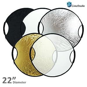 PHOTO STUDIO 22 NEW HANDHELD Disco de iluminación plegable 5 en 1 para reflector