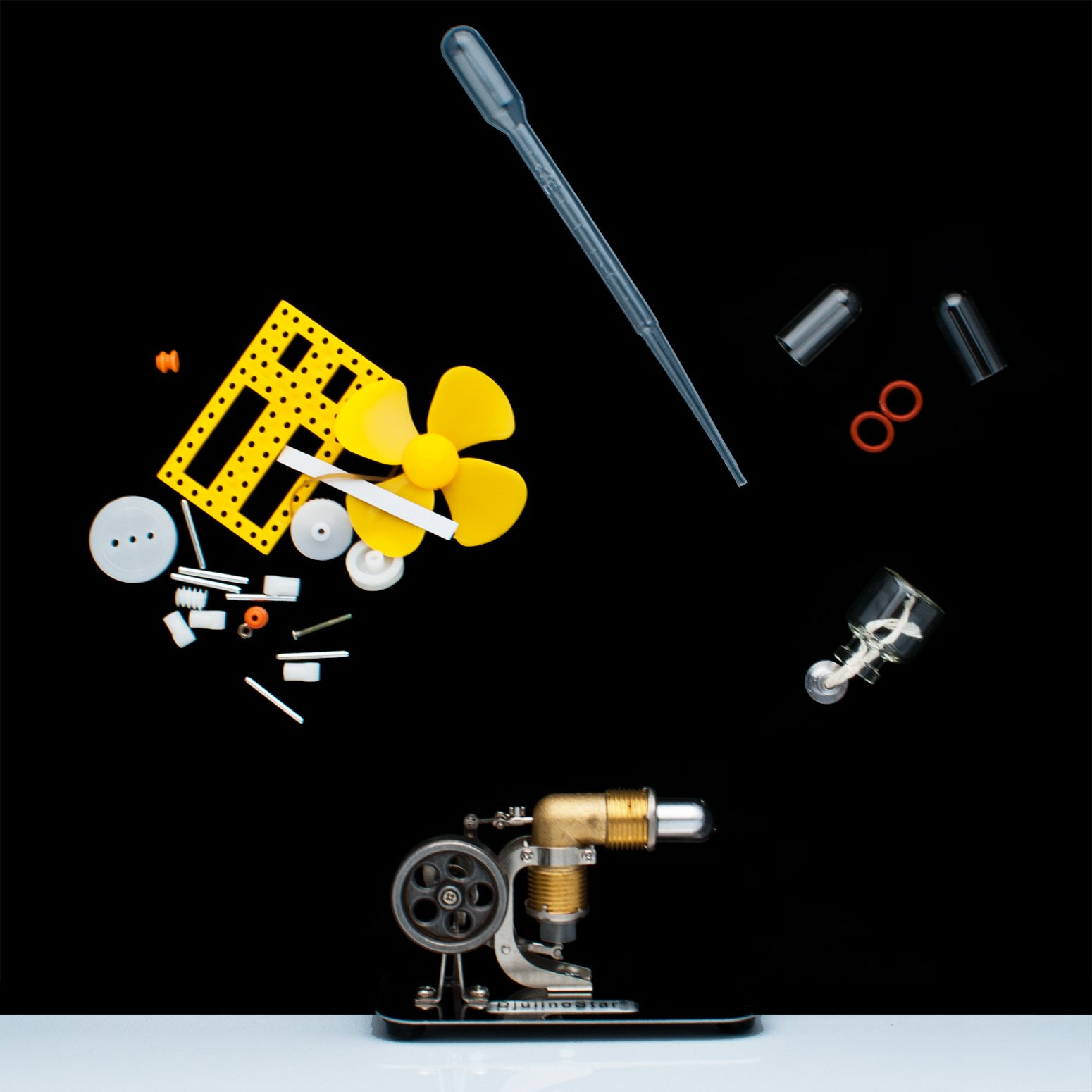 DjuiinoStar Mini Hot Air Stirling Engine: A High Performance Pocket-Sized Working Model by DjuiinoStar (Image #7)