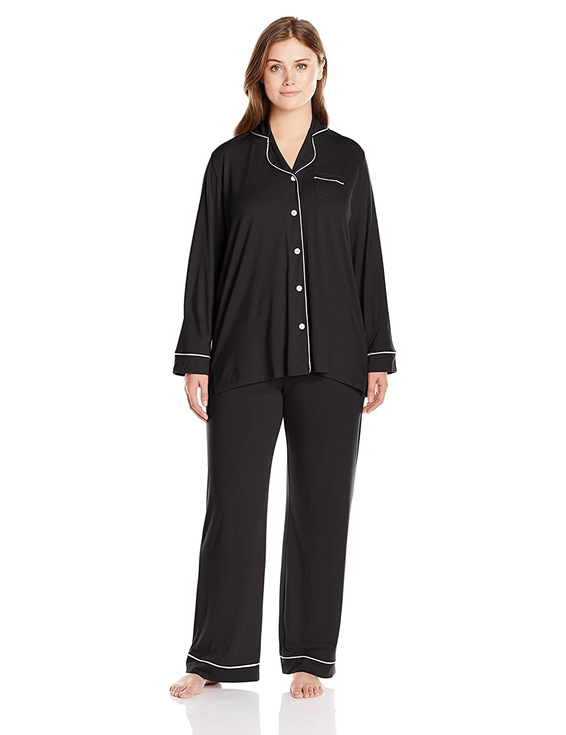 Cosabella Women's Plus-Size Bella Long Sleeve Top and Pant Pajama Set Cosabella Women' s IA AMORE9641P