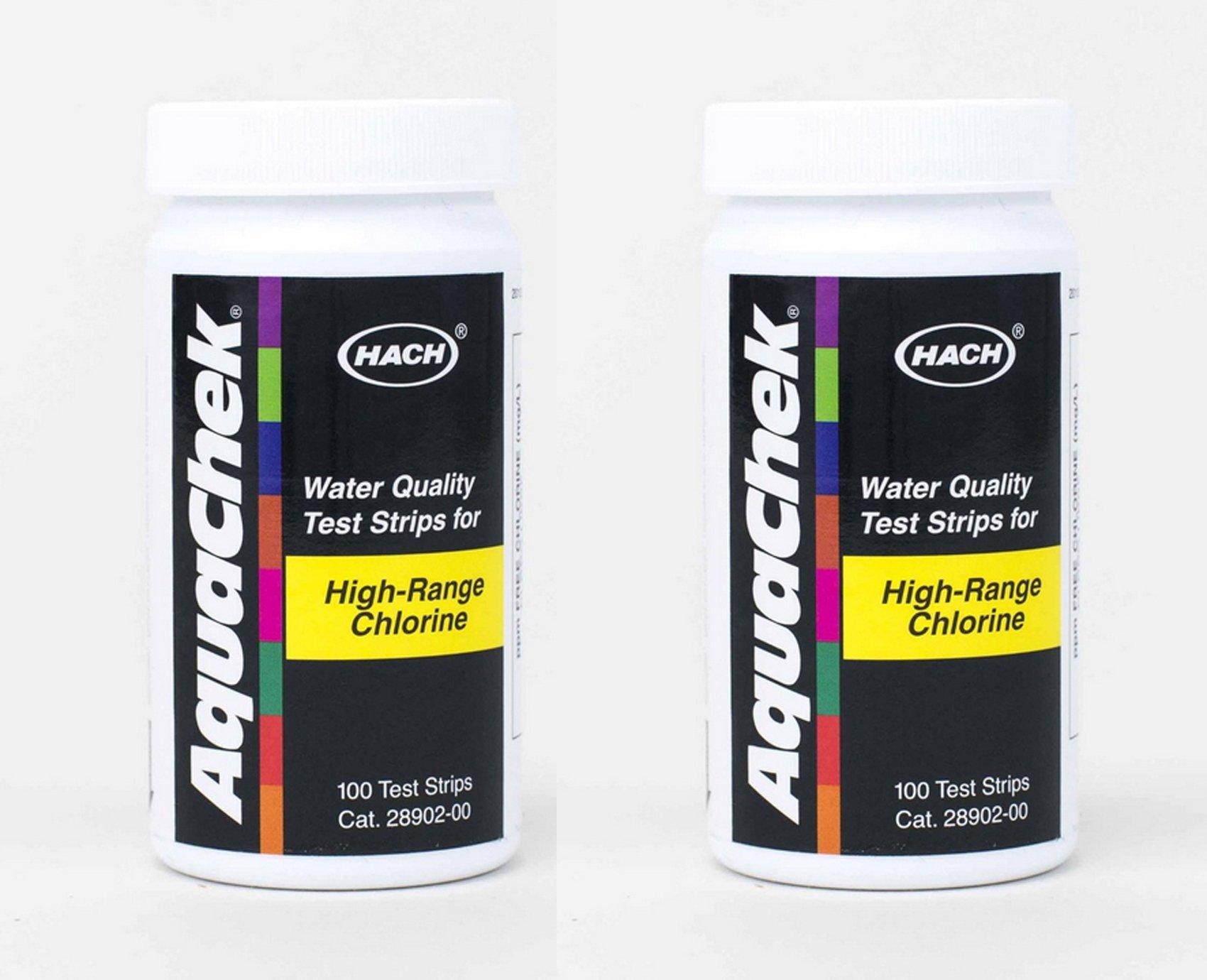 AquaChek High Range Chlorine Test Strips (100 count) (2 Pack) by AquaChek