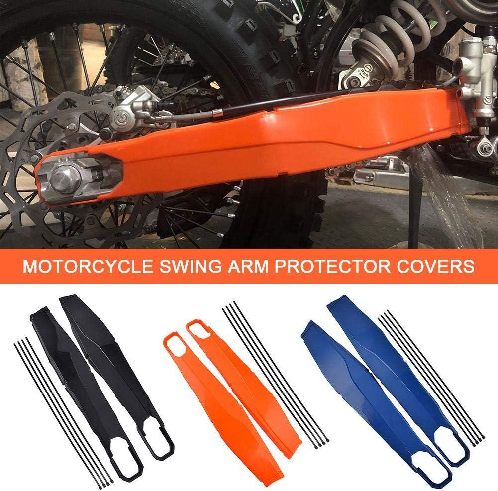 Easy-topbuy Protector del Bastidor del Cuerpo de la Motocicleta Cubre el Protector del Brazo oscilante para KTM EXC F Husqvarna 2014 a 2019