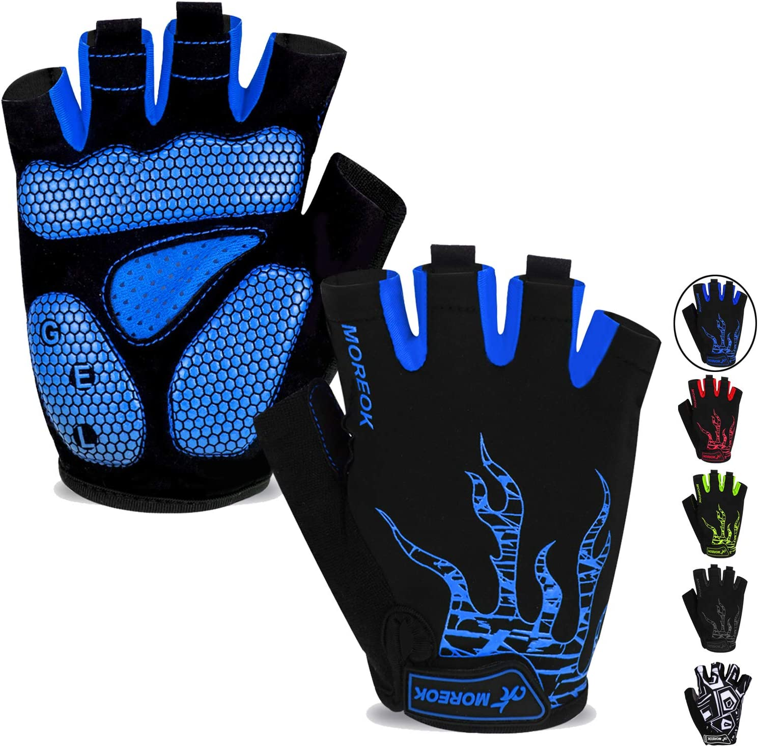 Mountain Made Belford Half Finger Cycling Gloves with Gel Pad