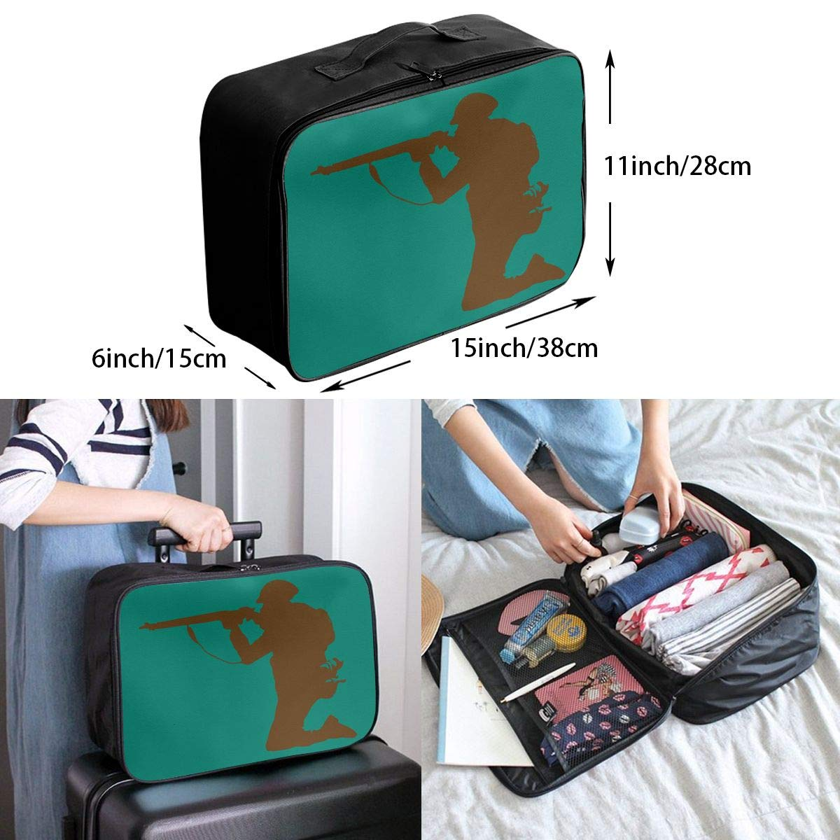 Travel Luggage Duffle Bag Lightweight Portable Handbag Soldier Large Capacity Waterproof Foldable Storage Tote