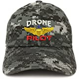 Trendy Apparel Shop Drone Pilot Aviation Wing Embroidered Soft Crown 100% Brushed Cotton Cap