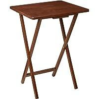 PJ Wood Single Folding TV Tray & Snack Table - Honey Oak