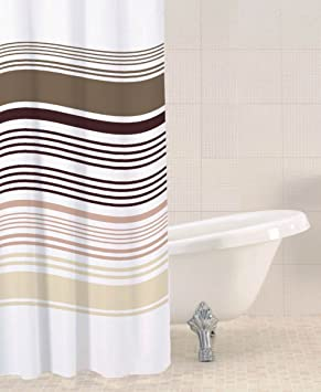 sabichi striped shower curtain white