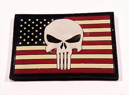 3d PVC Us Punisher Flag Patch Navy Seal Team 6 Devgru CAG Sfod-d Delta NSW