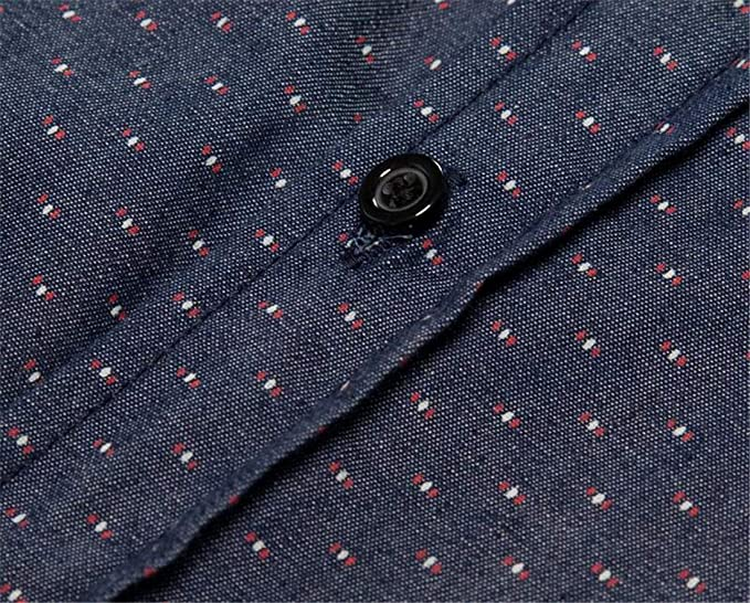 JXG Men Business Plaid Shirt Slim Button Down Long Sleeve Button Up Dress Work Shirt