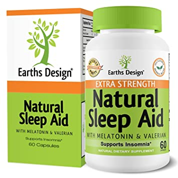 Natural Sleep Aid Pills, 100% Herbal, Non-Habit Forming Sleeping Pill for