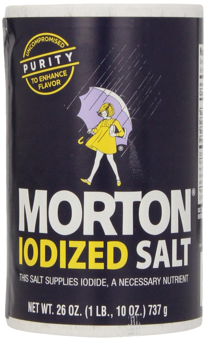 Morton Iodized Salt, 26-Ounce (Pack of 24)