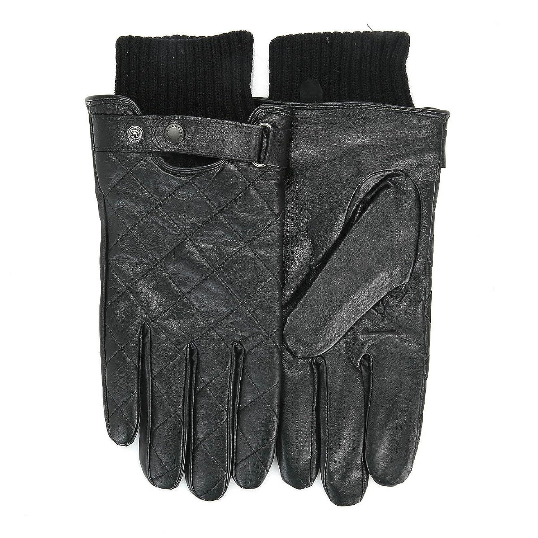 Men's Barbour Quilted Leather Gloves - Black: Amazon.co.uk: Shoes ... : barbour quilted gloves - Adamdwight.com