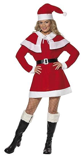 Smiffys 24506X1 Déguisement Femme Mère Noël, Rouge, Taille XL ... 4e38a3bbe71
