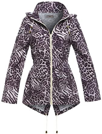 NEW RAIN MAC Ladies PARKA Womens FISHTAIL Festival RAINCOAT Size 8 10 12 14 16
