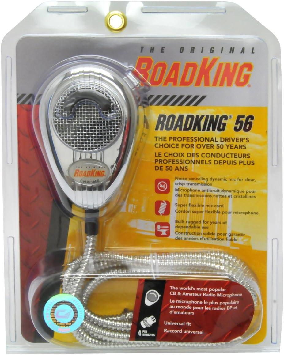 ROADKING® RK56CHSS ROADKING 4-PIN DYNAMIC NOISE CANCELING CB MICROPHONE CHROM...