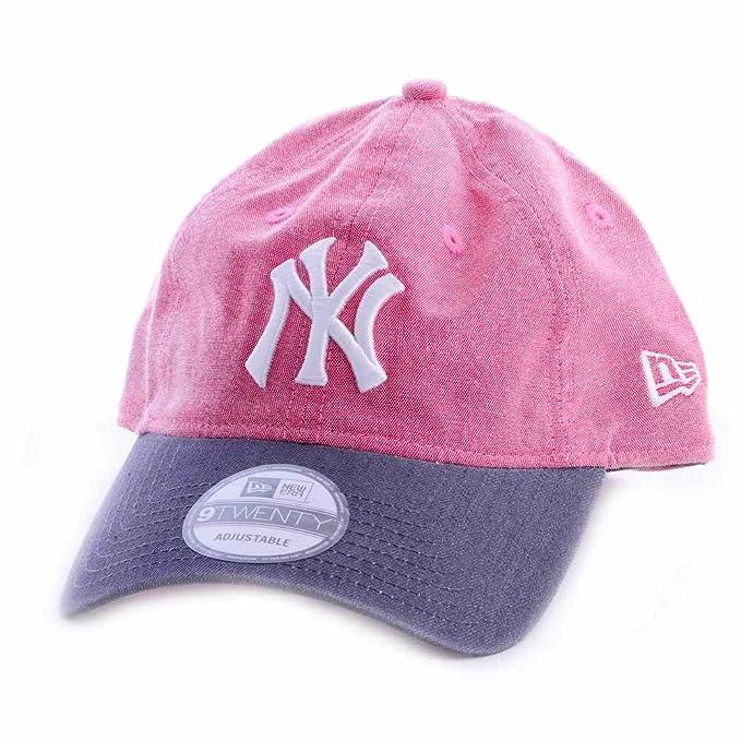 A NEW ERA Gorra 9Twenty MLB York Yankees Lic048 Rosa Gris Blanco Talla   Ajustable  Amazon.es  Ropa y accesorios eefeee540e2