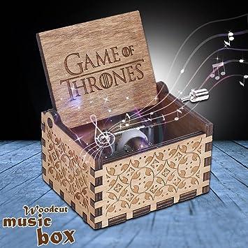 Slibrat Caja de música de JUEGO DE TRONOS Caja de música de madera grabada Artesanía Regalos de Navidad para niños: Amazon.es: Bricolaje y herramientas