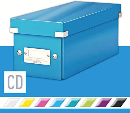 Leitz Caja para guardar CD, Azul, Click and Store, 60410036 ...