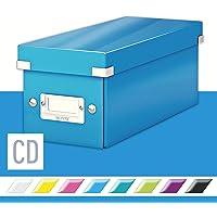 Leitz Caja para guardar CD, Azul, Click and