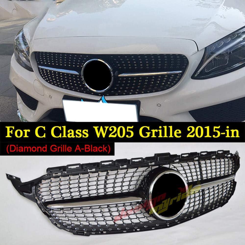 Kühlergrill Frontgrill für Benz C-Klasse W205 C200 C300 C250 2019 Schwarz